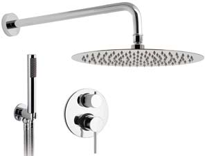 Aviolo-Rain-Shower - Chrome-Komplett-Unterputz-Dusche