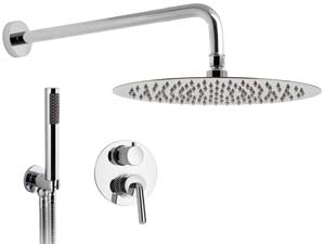 Viverone-Rain-Shower - Chrome-Komplett-Unterputz-Dusche