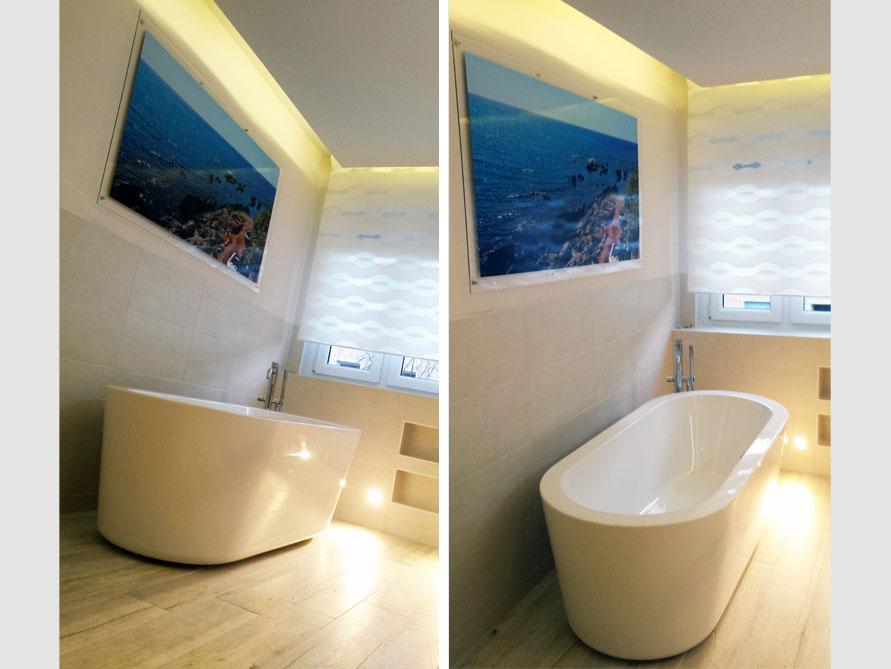 Badezimmer Idee mit der freistehenden Badewanne Almeria 177