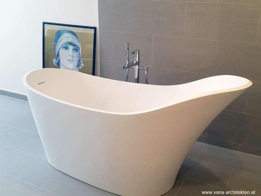 Freistehende Mineralguss Badewanne Napoli